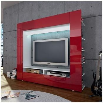 Cat gorie meubles de t l vision du guide et comparateur d for Meuble tv rouge laque