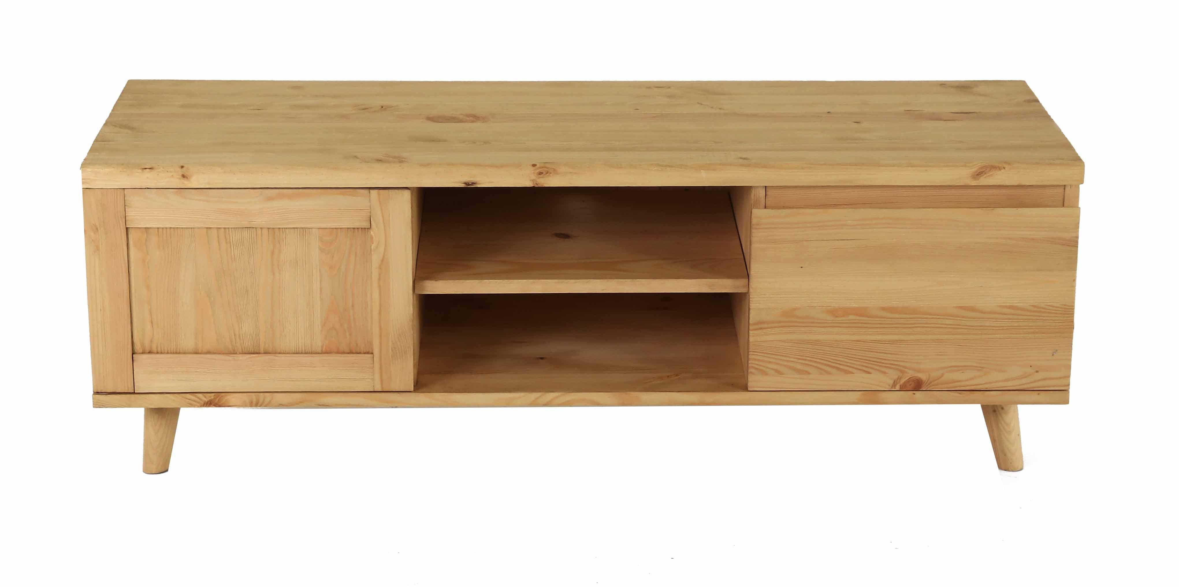 couleurs meuble tv pin massif 1 porte 1 tiroir rewind de. Black Bedroom Furniture Sets. Home Design Ideas