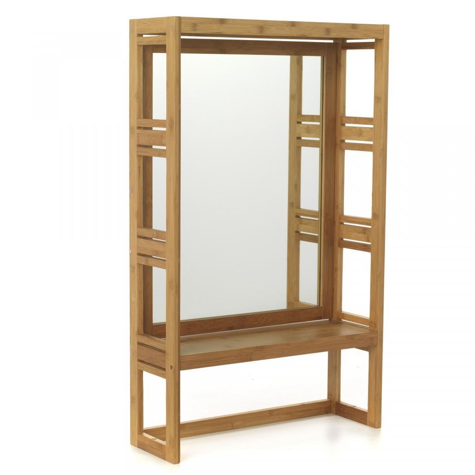 Miroir salle de bain avec tablette - Miroir salle de bain avec etagere ...