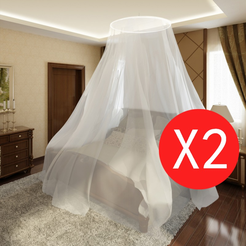 vidaxl moustiquaire lit t te ronde suspendre 1020 x 230. Black Bedroom Furniture Sets. Home Design Ideas