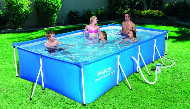 Bestway piscine tubulaire rectangulaire 400x211x81cm for Piscine rectangulaire bestway
