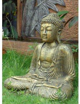 Atmosphera c statue bouddha grand mod le pierre for Jardin zen atmosphera