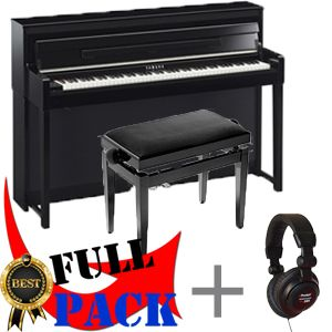 yamaha clp 585pe piano num rique noir b ne brillant. Black Bedroom Furniture Sets. Home Design Ideas