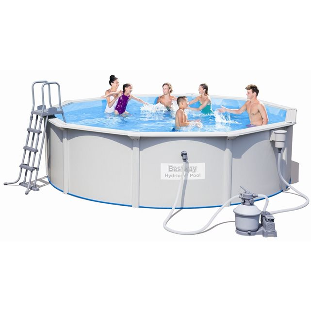 bestway c piscine acier ronde hydrium x m. Black Bedroom Furniture Sets. Home Design Ideas