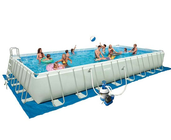 Intex ultra silver 975 x 488 x 132 m zeol for Piscine intex silver ultra