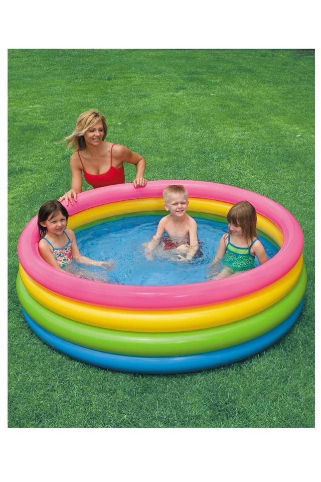 Set piscine 122 x 25cm ballon bou e de intex for Piscine gonflable intex ronde