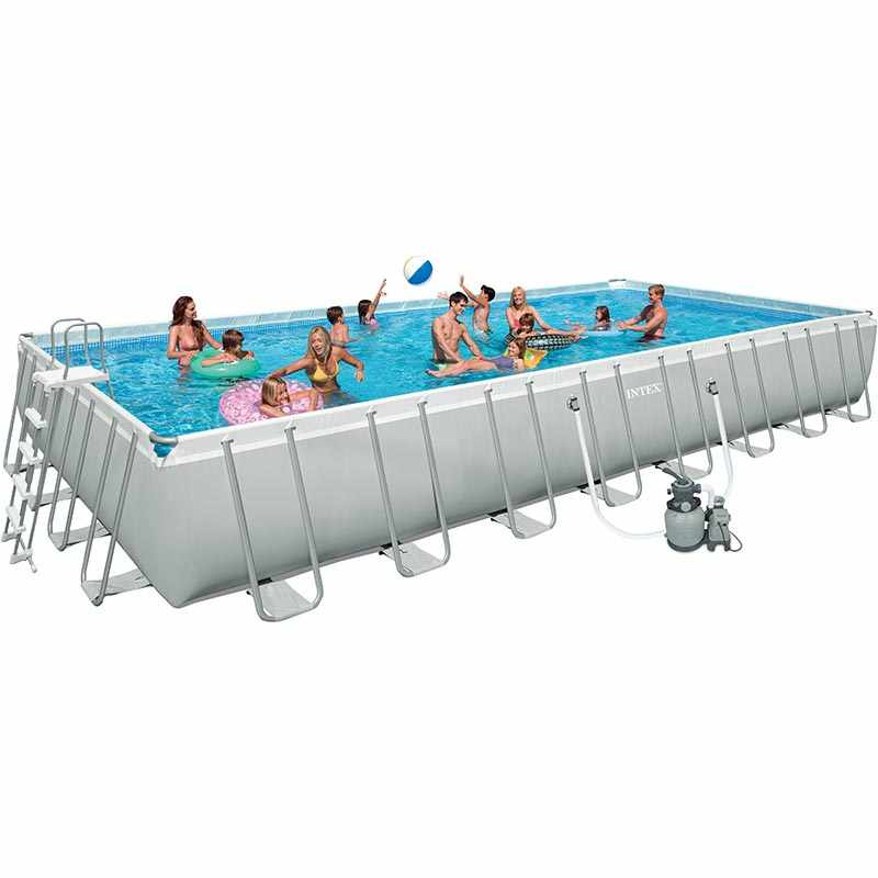 intex piscine tubulaire ultra silver 9 75 x 4 88 x h1 32m catgorie piscine. Black Bedroom Furniture Sets. Home Design Ideas