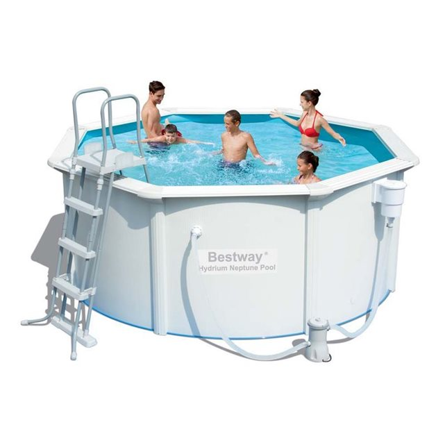 Bestway c piscine acier ronde hydrium x m for Calcul volume piscine ronde