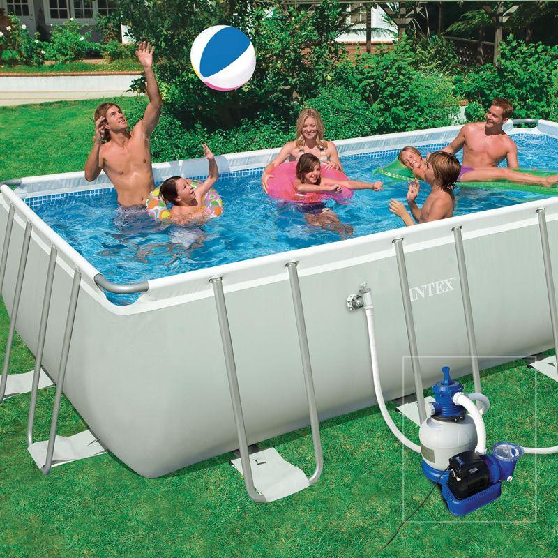 Kit piscine hors sol tubulaire m tal frame junior intex for Enrouleur bache piscine hors sol tubulaire intex