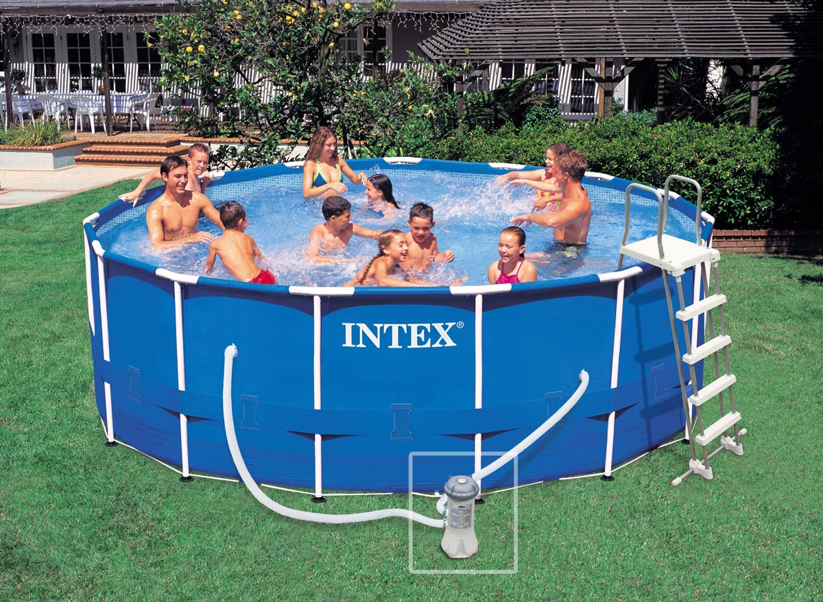 Intex piscine tubulaire 457 x 122 m for Piscine intex