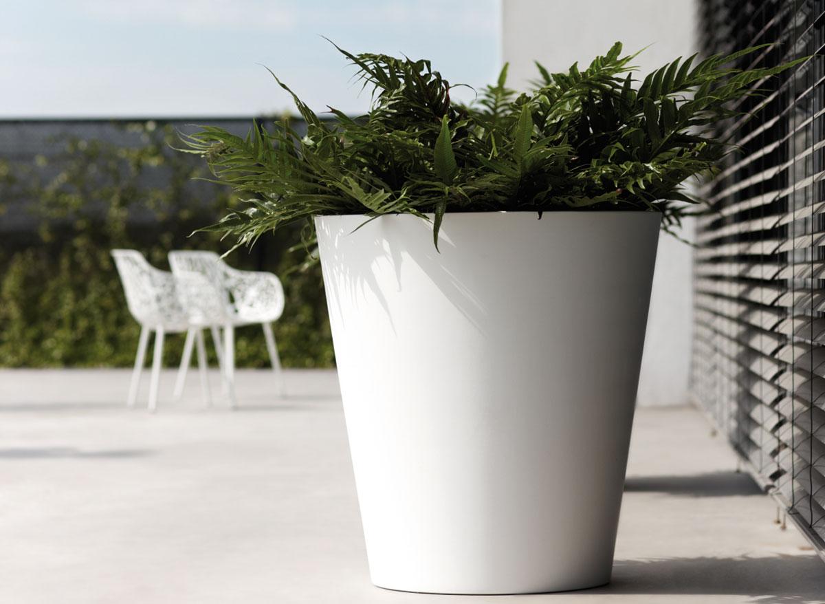 Elho pot de fleurs pure straight round 50 cm - Chauffage pot de fleur ...