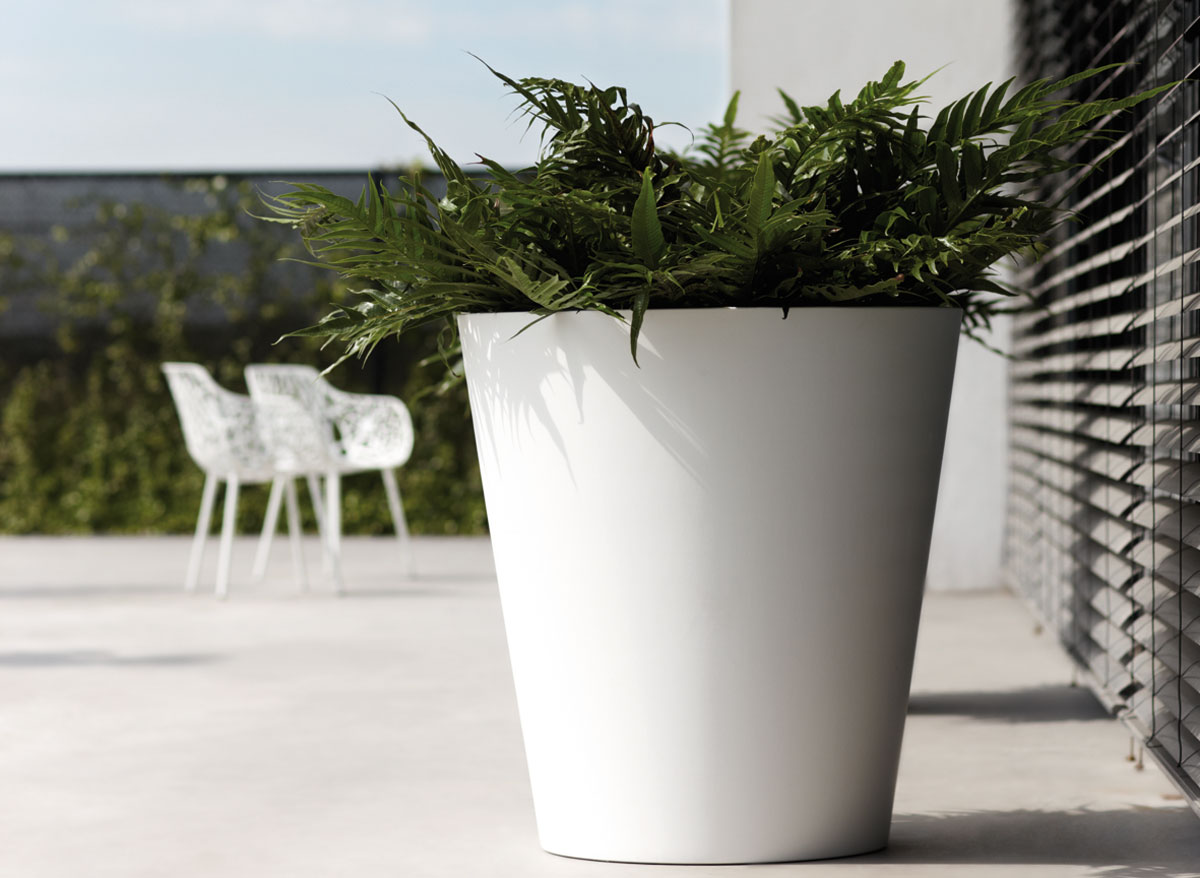 Elho pot de fleurs pure straight round 50 cm - Pot de fleur xxl ...