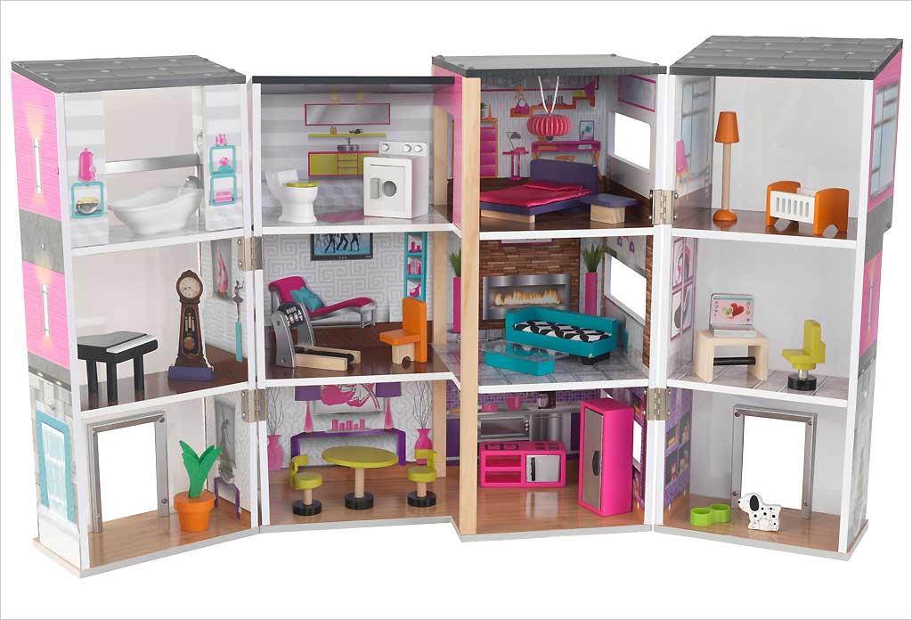 Catgorie maisons de poupes du guide et comparateur d 39 achat for Maison moderne kidkraft