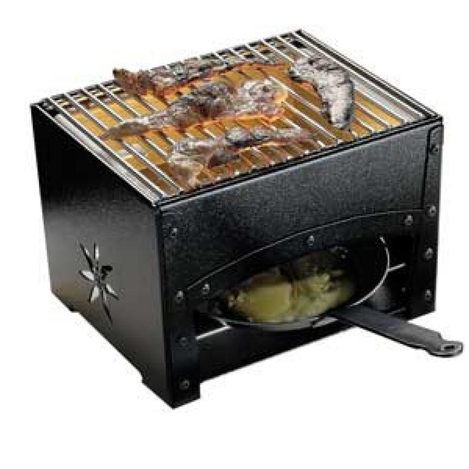 Bron barbecue et reblochonade de table coucke auberge - Barbecue de table charbon ...