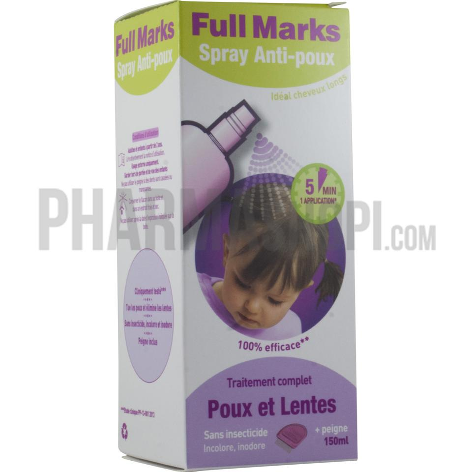 full marks solution spray instructions