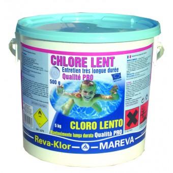 Mareva cchlore lent 5 kg 500g for Produit piscine mareva