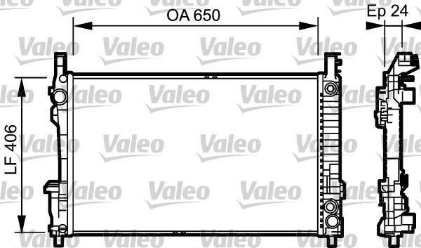 valeo radiateur du moteur 734378