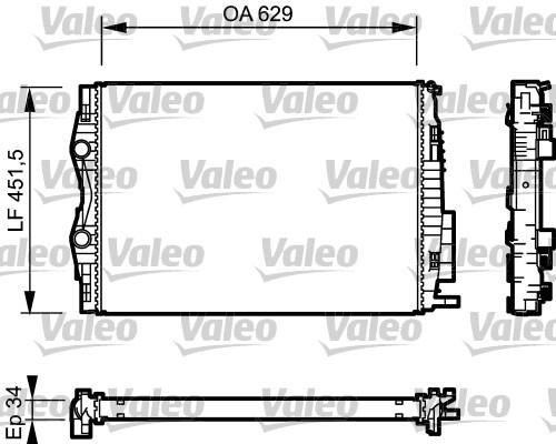 valeo radiateur du moteur 734438