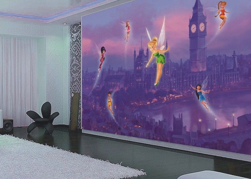 disney papier peint f e clochette fairies qualit num ri. Black Bedroom Furniture Sets. Home Design Ideas