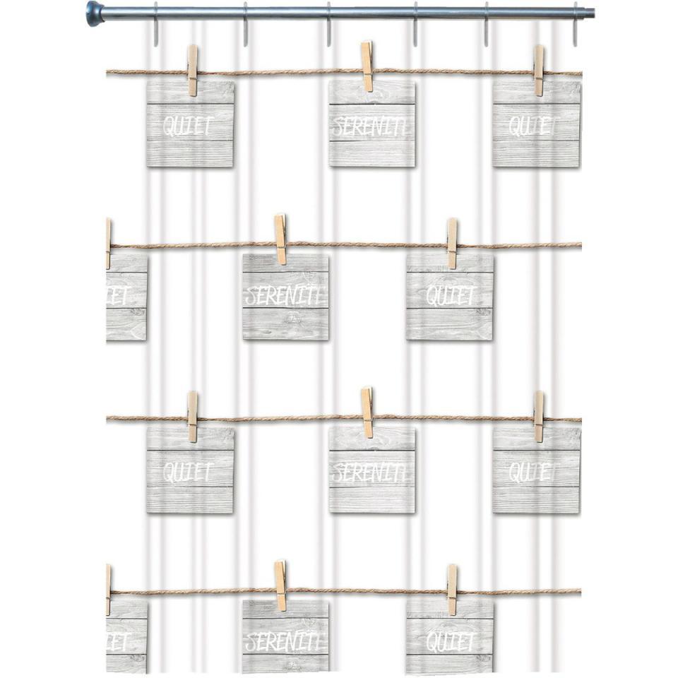 Catgorie rideaux de douche du guide et comparateur d 39 achat for Longueur rideau de douche