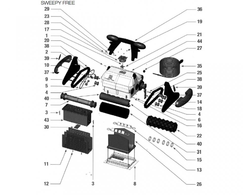 Robots piscine guide d 39 achat for Piece robot piscine