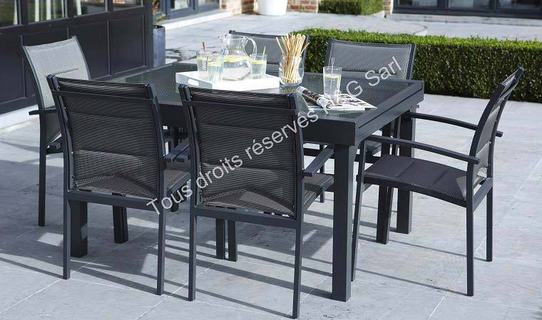 Best table jardin rallonge coulissante ideas awesome for Table salon rallonge