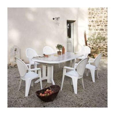 Cat gorie salon de jardin du guide et comparateur d 39 achat - Salon de jardin grosfillex vega blanc ...