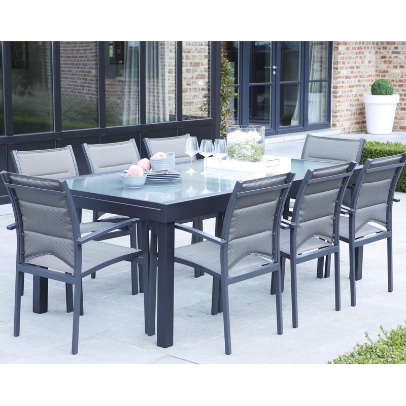 wilsa csalon de jardin modulo alu 8 12 places gris garden catgorie salon de. Black Bedroom Furniture Sets. Home Design Ideas