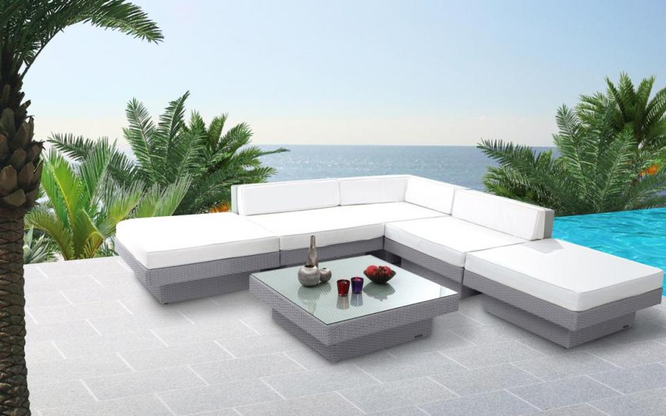 Best Salon De Jardin Gris Blanc Contemporary - Patriotprotection ...