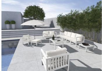 Salon de jardin taupe et blanc - Salon de jardin design blanc ...