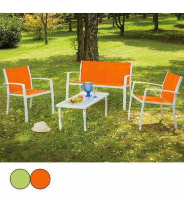 Salon jardin vert anis maison design - Salon de jardin grosfillex vega vert anis ...