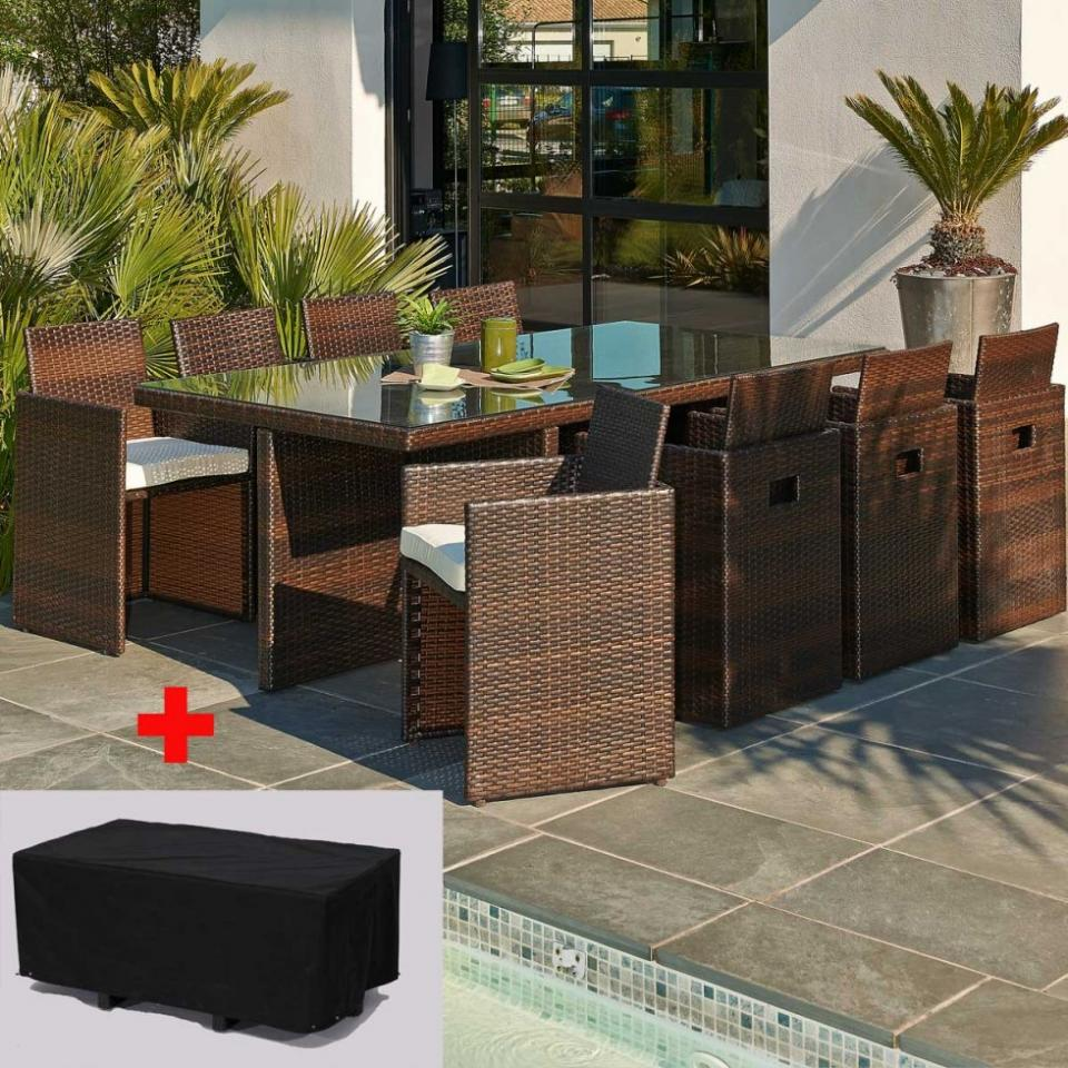 Salon de jardin discount pvc Salon de jardin monaco lounge allibert