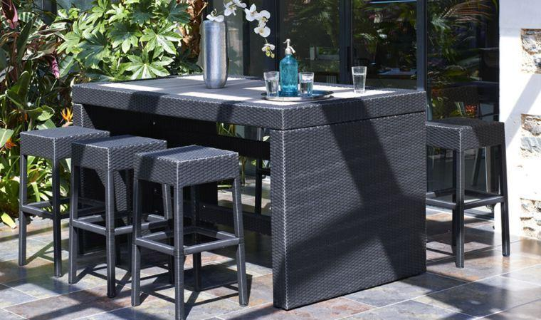 Dcb catgorie salon de jardin for Bar de jardin en bois