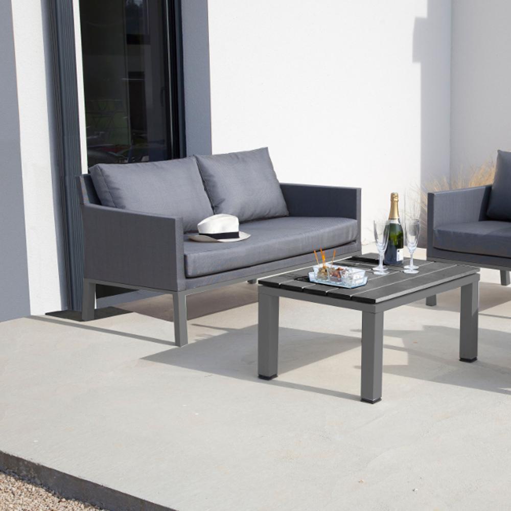 proloisirs cset de jardin 2 places en aluminium et textil ne. Black Bedroom Furniture Sets. Home Design Ideas