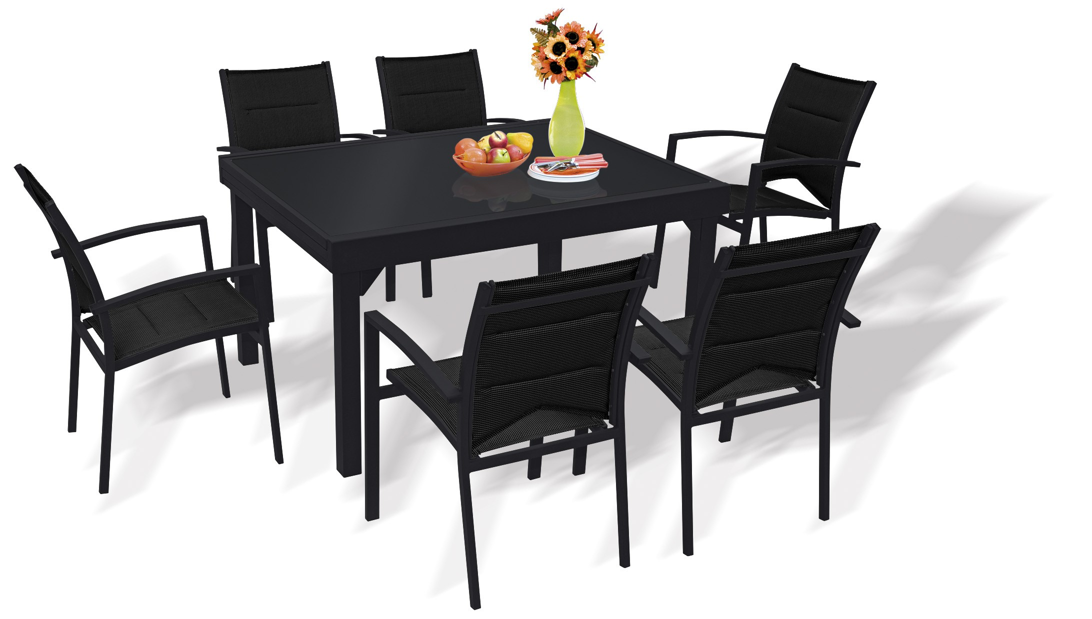 wilsa ensemble repas pour 12 personnes en aluminium et. Black Bedroom Furniture Sets. Home Design Ideas
