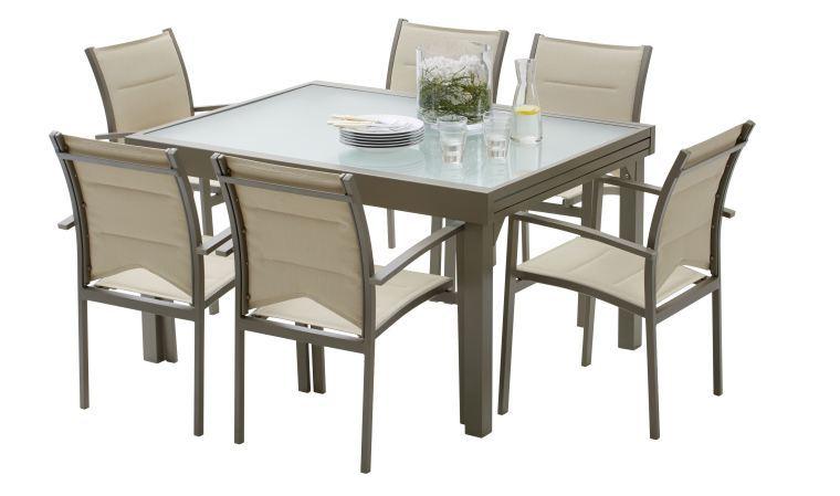 Table De Jardin Aluminium Et Verre Avec Rallonge Blog De Conception De Maison