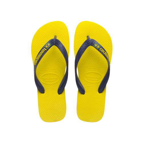 havaianas tong jaune brasil logo. Black Bedroom Furniture Sets. Home Design Ideas