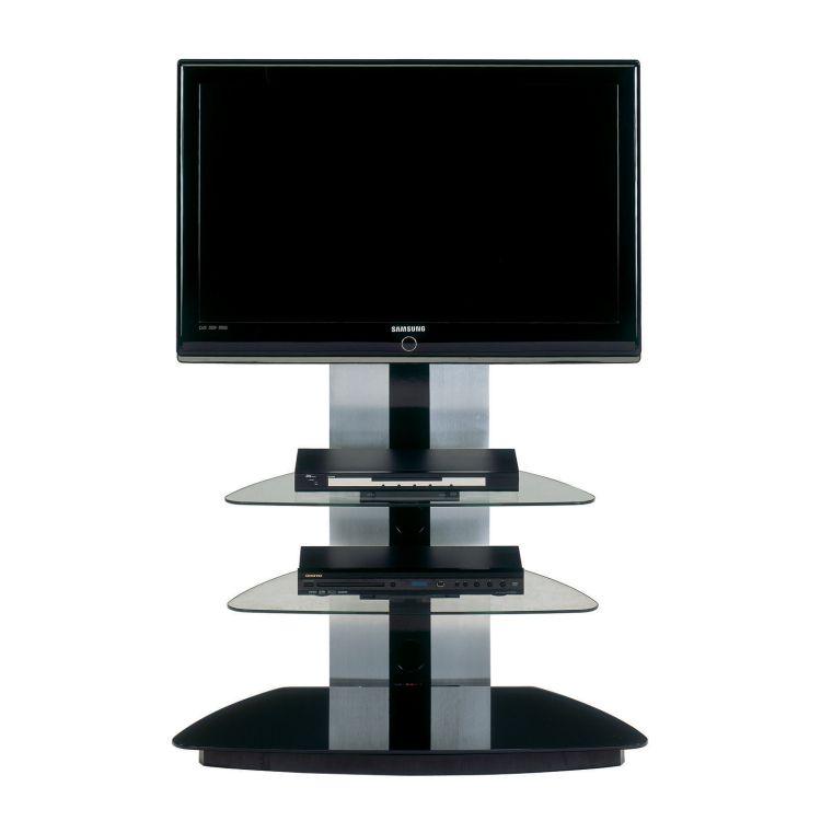 Recherche meuble verre du guide et comparateur d 39 achat - Meuble tv noir brillant ...