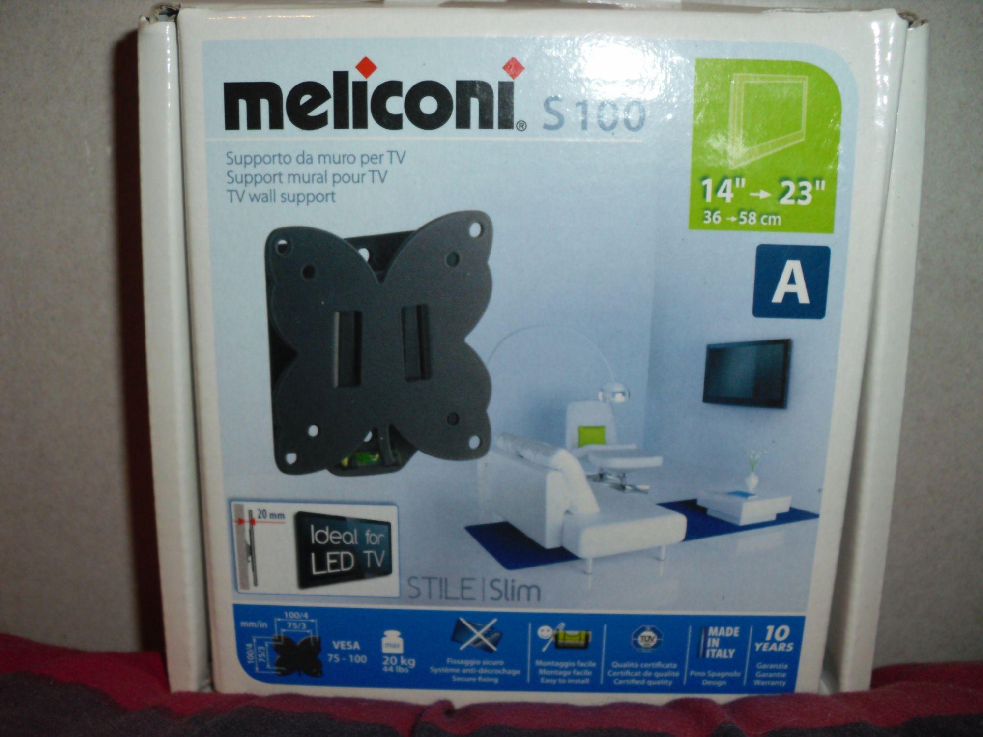 Meliconi stile slim s100 480070 for Meliconi support mural