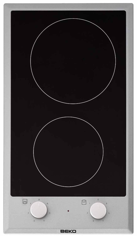table de cuisson vitroc ramique 2900w 2 foyers noir et inox. Black Bedroom Furniture Sets. Home Design Ideas