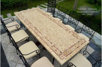 Catgorie table de jardin du guide et comparateur d 39 achat for Table carrelee jardin