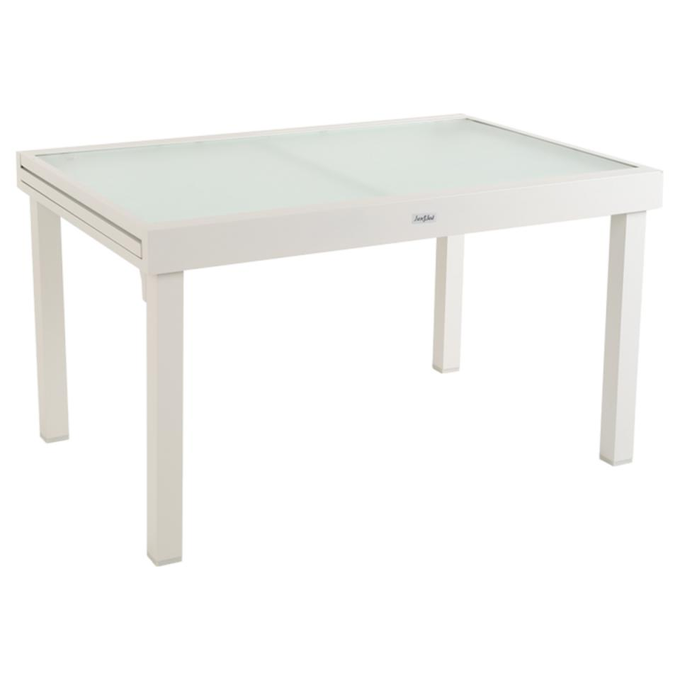Table de jardin resine tressee extensible salon en teck for Chaise de jardin tressee grise