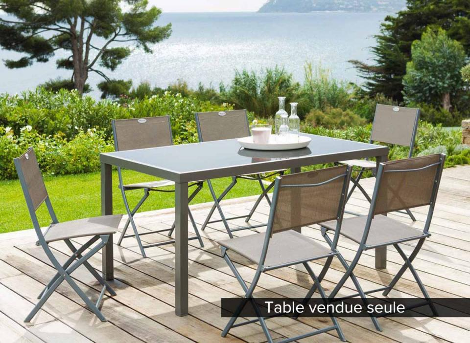 Table basse de jardin taupe for Table 6 places
