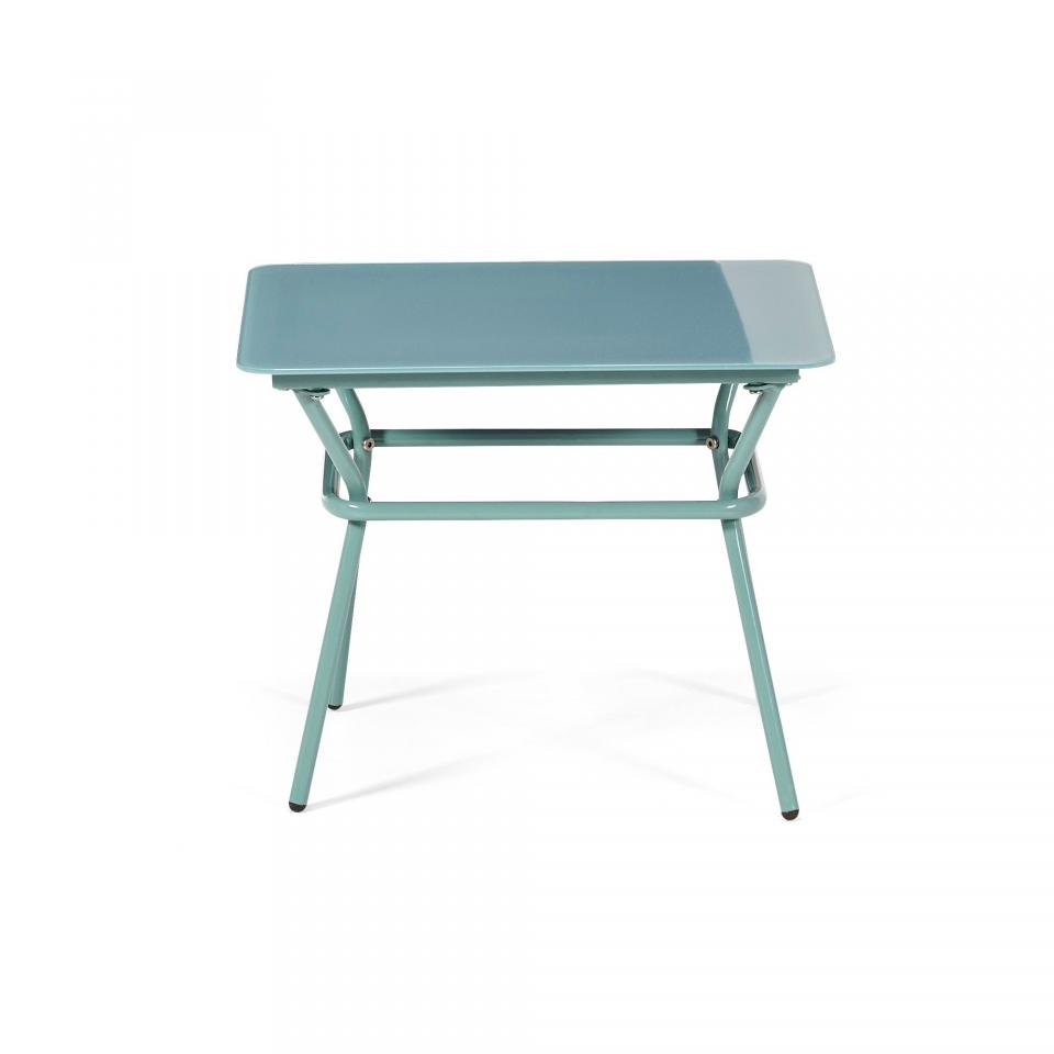 Table basse de jardin en verre for Mobilier de jardin alinea