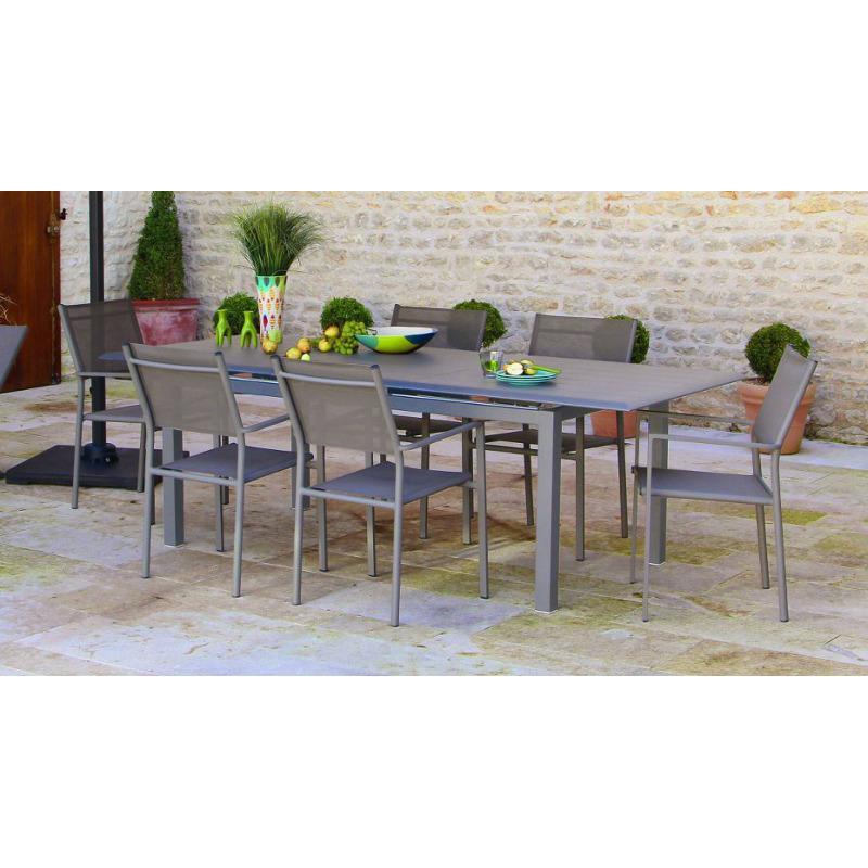 proloisirs ctable extensible rectangulaire louisiane en alumi. Black Bedroom Furniture Sets. Home Design Ideas