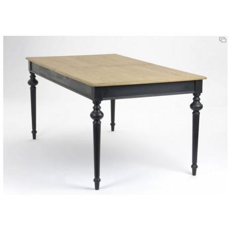 Little table blanche 180 cm avec rallonge for Table salle a manger 140 cm