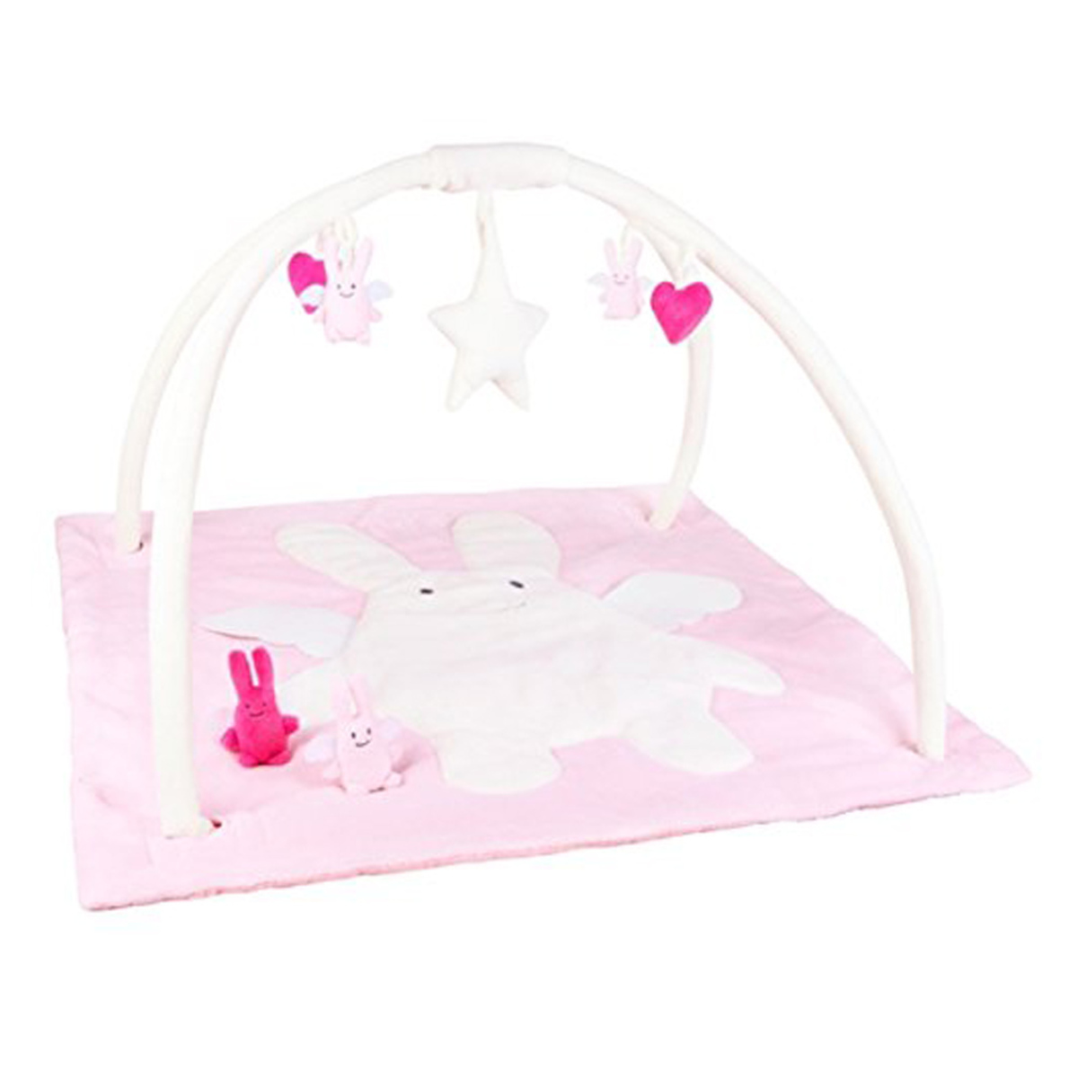 trousselier ctapis d veil musical carr ange lapin rose. Black Bedroom Furniture Sets. Home Design Ideas