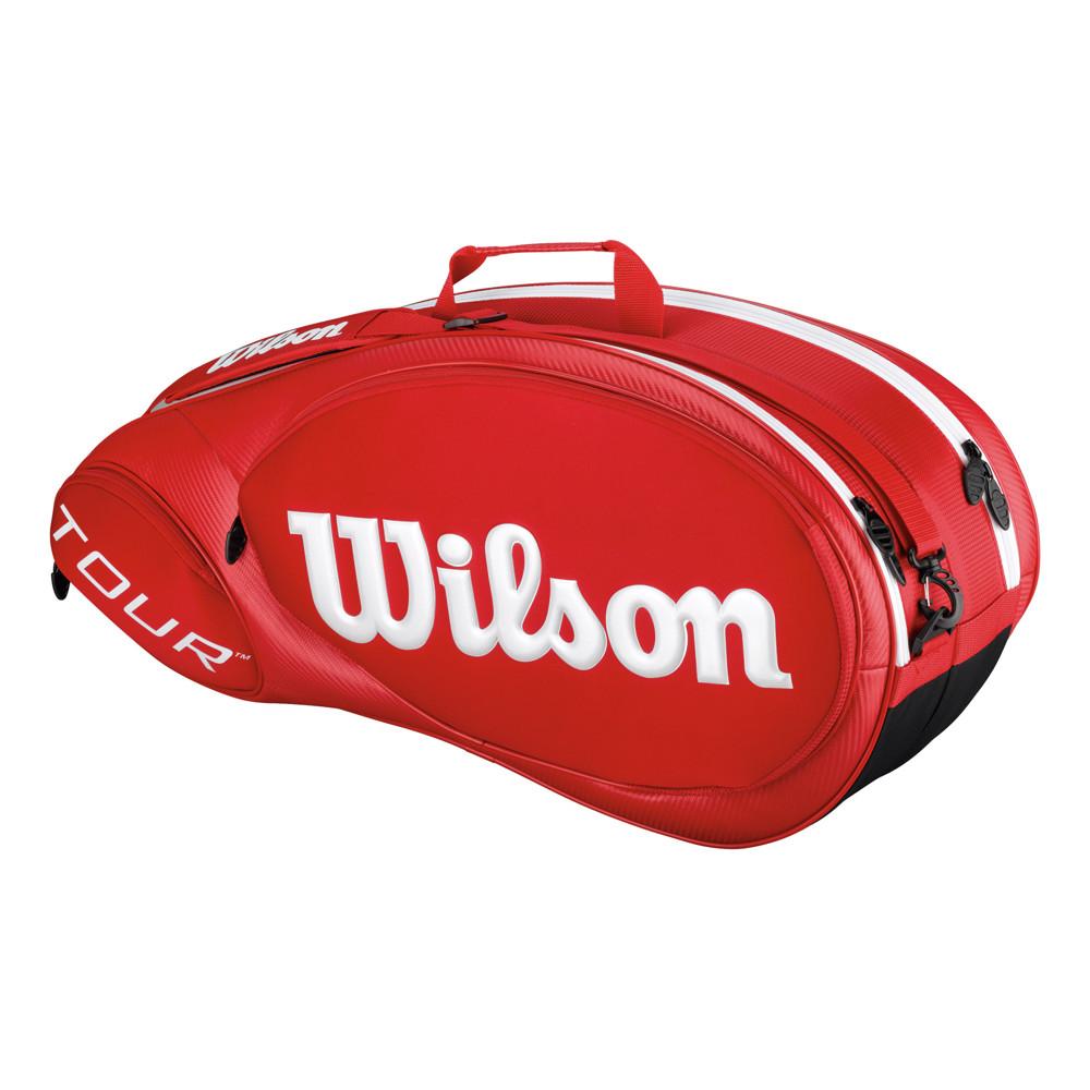 wilson sac de tennis tour molded 2 0 6 2015 rouge. Black Bedroom Furniture Sets. Home Design Ideas