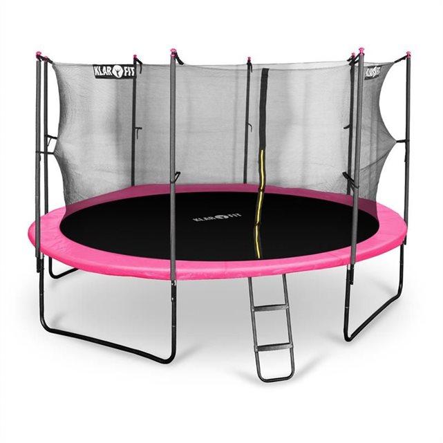 klarfit rocketgirl 430 trampoline 430 cm filet de s curit. Black Bedroom Furniture Sets. Home Design Ideas