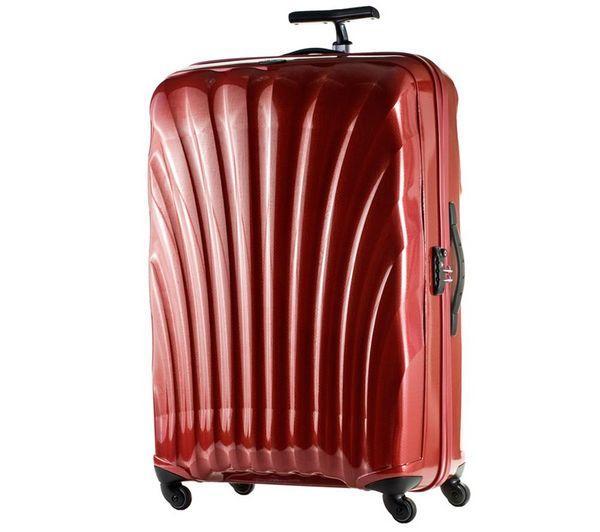samsonite grande valise rigide cosmolite spinner 85 cm roug. Black Bedroom Furniture Sets. Home Design Ideas